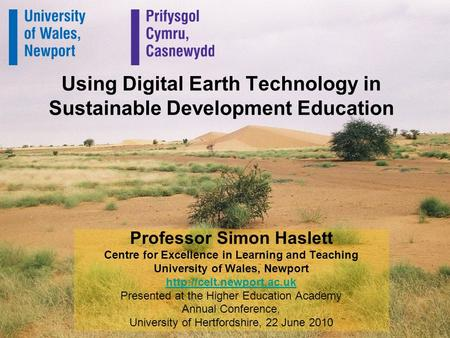 Using Digital Earth Technology in Sustainable Development Education