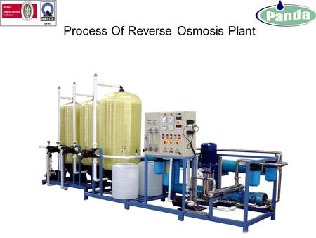 Process Of Reverse Osmosis Plant Raw Water Feed Pump: Raw Water pump is used to feed the water to Filtration System at required Pressure from water source.