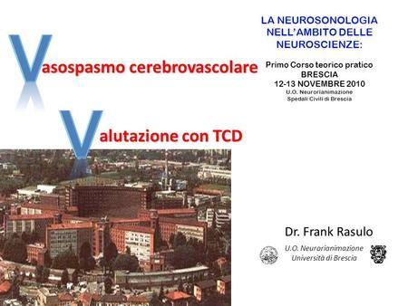 I v pertensione intracranica alutazione con tcd dr frank for Ambros uchtenhagen