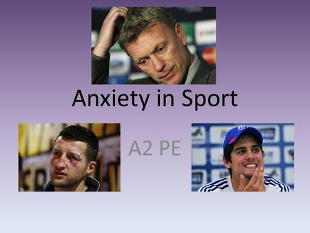 Anxiety within sport