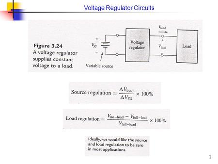 1 Voltage Regulator Circuits. 2 A Simple Zener-Diode Voltage Regulator.