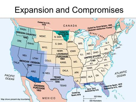 Expansion and Compromises. Louisiana Purchase, 1803.