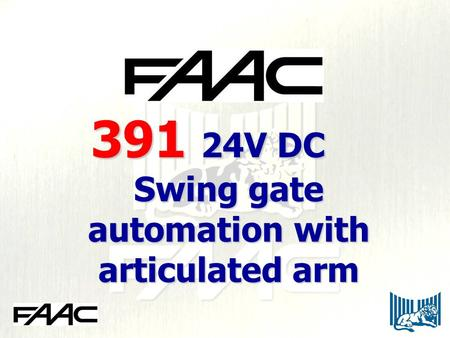 Swing gate automation with articulated arm