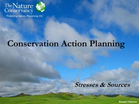 Conservation Action Planning Stresses & Sources. CAP Basic Practice.
