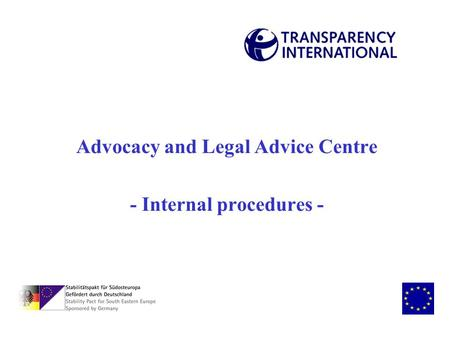 Advocacy and Legal Advice Centre - Internal procedures -