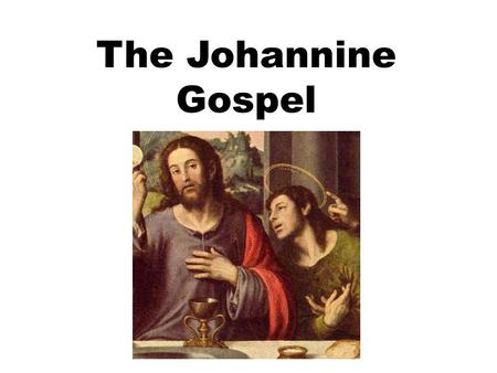 "The Johannine Gospel. Author The Gospel is anonymous but hints at John's authorship:  An eye witness author (cf. 19:35)  The phrase ""the beloved disciple"""