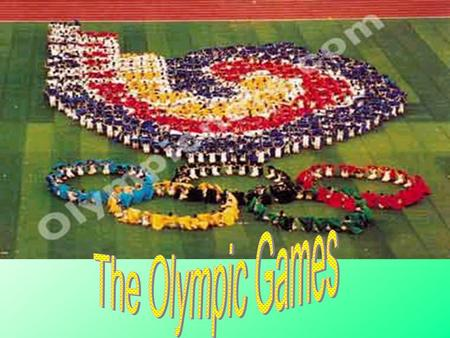The Olympic Flag Five ring are joined together as a sign of friendship.