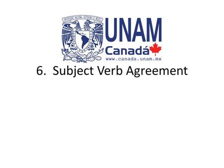 6. Subject Verb Agreement. Singular Nouns A singular subject (noun) needs to be used with a singular verb. – Joel speaks French. – singular subject +
