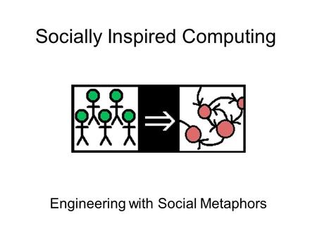 Socially Inspired Computing Engineering with Social Metaphors.