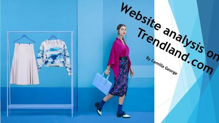 Website analysis on Trendland.com By Camilla George.