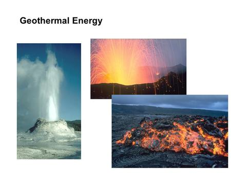 Geothermal Energy Photos of US Geological Survey.