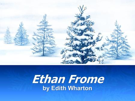 ethan frome by edith wharton essay Ethan frome essay examples  an overview of the themes of isolation in the novel ethan frome by edith wharton and the poem.