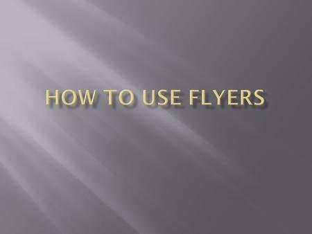 Step 1: Click Flyers while in Microsoft Publisher.