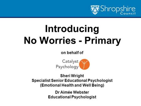 Introducing No Worries - Primary