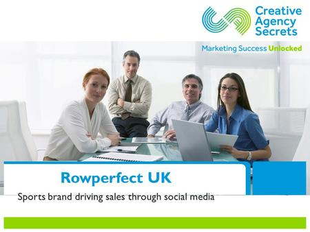 Rowperfect UK Sports brand driving sales through social media.