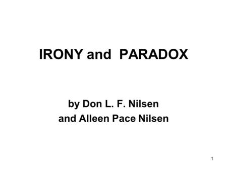 by Don L. F. Nilsen and Alleen Pace Nilsen