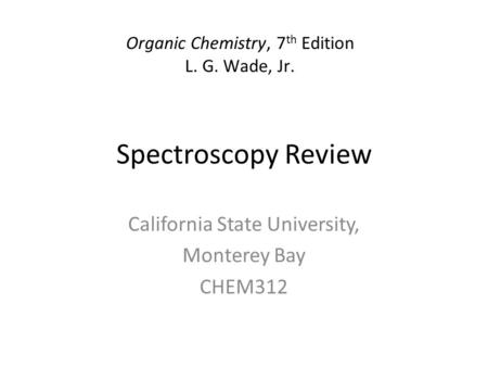 California State University, Monterey Bay CHEM312