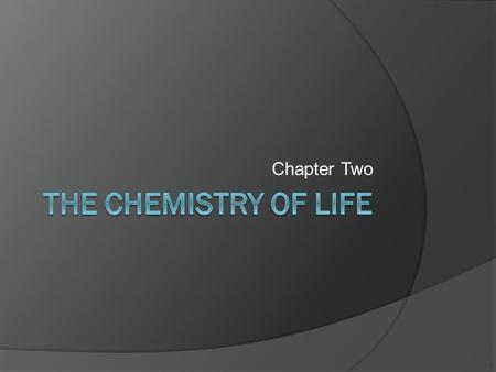 Chapter Two. Matter  Living things are made up of matter! Example: Water, Fats, Proteins 6 elements most common to living things Carbon Hydrogen Oxygen.