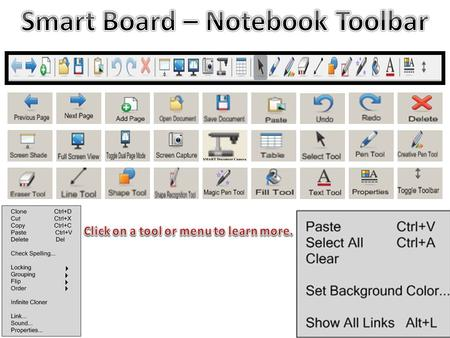 Click on this button to move to the previous slide of your notebook. Click on this button to move to the next slide of your notebook. Click on this button.