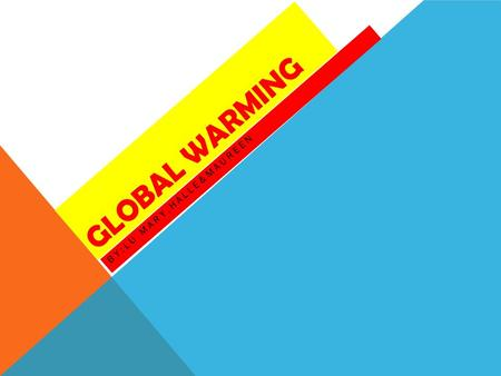 GLOBAL WARMING BY:LU MARY,HALLE&MAUREEN. PROBLEMS OF GLOBAL WARMING Deadly heat waves Bad Air, Allergy and Asthma Dangerous Weather Events Infection Disease.