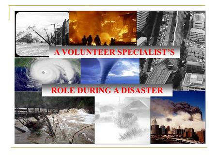 A VOLUNTEER SPECIALIST'S ROLE DURING A DISASTER. 2-1-1's Role 2-1-1 serves as a comprehensive and primary entry point into community service information.