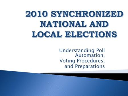 Understanding Poll Automation, Voting Procedures, and Preparations.