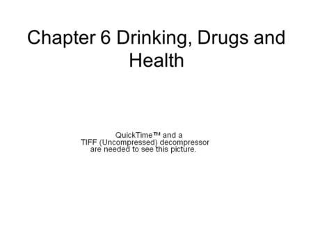 Chapter 6 Drinking, Drugs and Health. The risk of drinking… BAC slightly above.05% = chance of an accident doubles.10% = six times as great.15% = 25X.