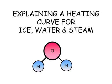 EXPLAINING A HEATING CURVE FOR ICE, WATER & STEAM