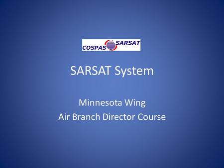 Minnesota Wing Air Branch Director Course