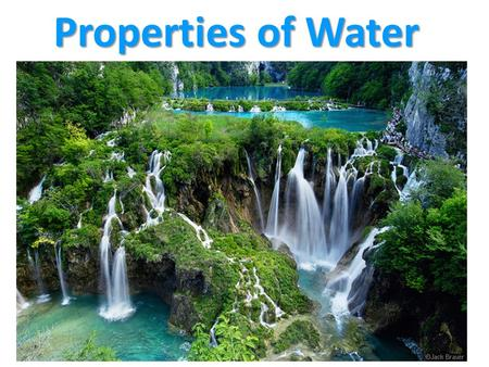 Properties of Water. Water is the molecule of life. Water has very unique and important properties. O HH.