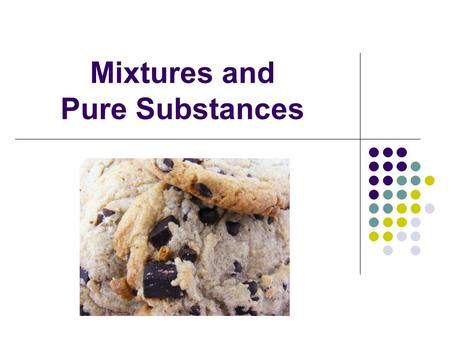 Mixtures and Pure Substances. Matter is any material that takes up space and has mass.
