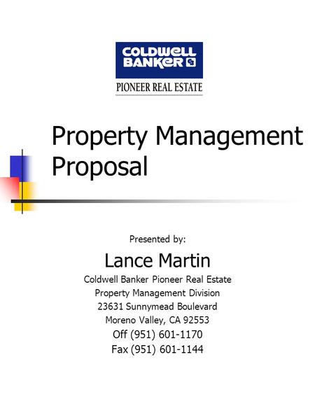 Property Management Proposal