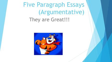five paragraph argumentive essays