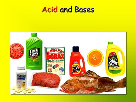 Acid and Bases. ACID-BASE THEORIES 1 of 2 The most general theory for common aqueous acids and bases is the BRØNSTED - LOWRY theoryThe most general.