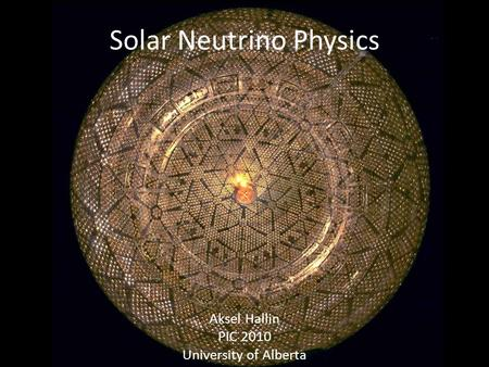 Solar Neutrino Physics
