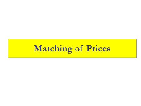 Matching of Prices. Enter the login id and Click on Go.