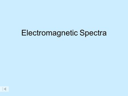 Electromagnetic Spectra. The Electromagnetic Spectrum AM radio Short wave radio Television channels FM radio Radar Microwave Radio Waves Gamma Rays X-
