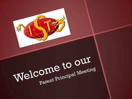 Welcome to our Parent Principal Meeting. Library Week Library Week October 17 to25.