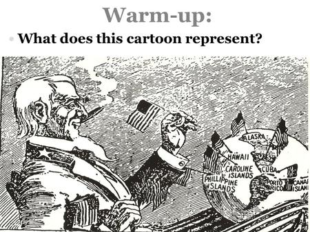 Warm-up: What does this cartoon represent?.