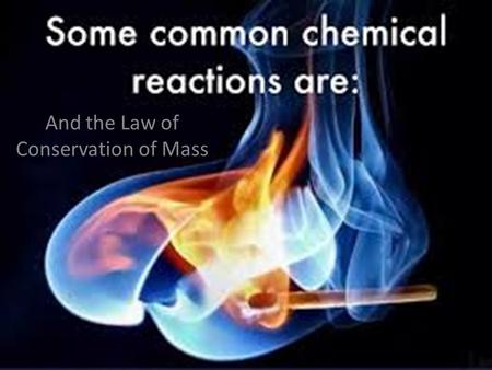 And the Law of Conservation of Mass. Water H H H H H H H H O O O O H H H H H H H H O O O O.