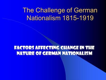 reasons german unification essay