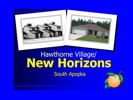 Hawthorne Village/ New Horizons South Apopka. Presentation Outline Background Re-Development Plan Action Requested.