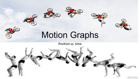 Motion Graphs Position vs. time. Vocabulary Position Where you are relative to the origin (reference point/observer) Distance The total length of how.