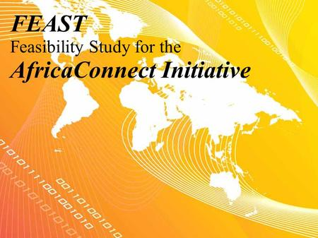 FEAST Feasibility Study for the AfricaConnect Initiative.