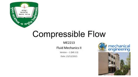 ME2213 Fluid Mechanics II Version – 1 (ME-13) Date: 23/12/2015