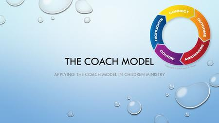 THE COACH MODEL APPLYING THE COACH MODEL IN CHILDREN MINISTRY.