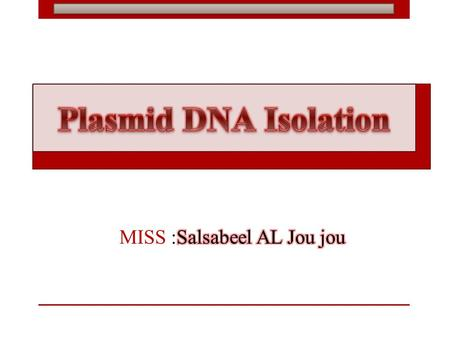 Plasmids: vehicles of recombinant DNA Bacterial cell Non-chromosomal DNA Replication: independent of the chromosome Many copies per cell Easy to isolate.