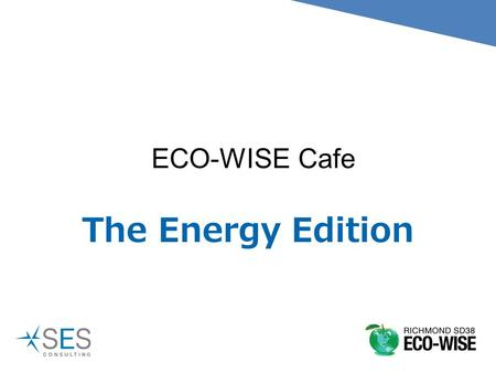 ECO-WISE Cafe The Energy Edition. How is hydro electricity produced?