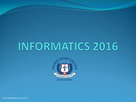 Yr12 Informatics 2016 v6.1 1. Course Overview Unit 3 – 2 Areas of Study and 2 Outcomes AOS 1 Organisations and Data Management AOS 2 Data Analytics Unit.