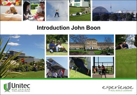 1 Introduction John Boon. John Boon Associate Professor at Unitec Institute of Technology New Zealand M.B.A. - Master of Business Administration Auckland.